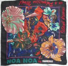 -Superbe Foulard    NOA NOA by OTTO KERN  100% soie TBEG  vintage scarf
