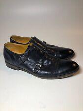 BLACKSTONE $278 Black Leather Monk Strap Dress Shoes Mens Size 10 M EU44