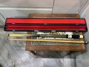 "Vintage 80s/90s Snooker , Pool Cue , Original Case And Box,146cm ,""BCE ,2 Pc"