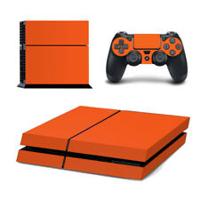 Playstation 4 Konsole Designfolie Skin Schutzfolie Folie Schutz Design Orange