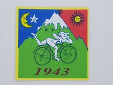 Bicycle Day Blotter Art Psychedelic Art LSD Blotter 100 Tab Sheet Albert Hofmann