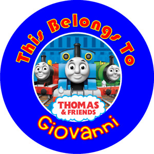 THOMAS AND FRIENDS TRAIN Personalized Property Name Stickers TAGS LABELS SCHOOL
