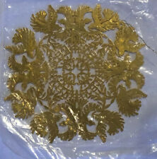 24k Gold Plated Heirloom Paper cut Ornament By Leslie A. Miller- New