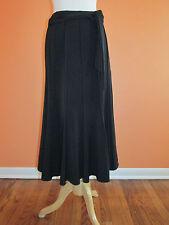 New Lena Gabrielle Size 8 Black Stretch Gored A-Line Swing Long Length Skirt