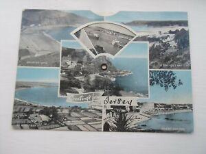 JERSEY - Vintage 9 View Mechanical View Postcard §DP651
