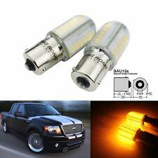 2 Ampoules BAU15S PY21W LED Orange 8W COB Clignotants Feu de recul Lampe Jaune