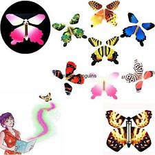 7Pcs Magic Colorful Flying Butterfly Change From Empty Hands Tricks Prop Toy Hot
