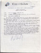 Lt. George A. Vaughn Jr. WW I U.S Ace 13 Victories Signed Cross & Cockade Letter