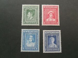Newfoundland  KGVl  1938  Royal Family  Mnh/Mm  set of stamps
