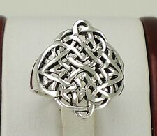 Large .925 Sterling Silver CELTIC KNOT ring size 9  style# r2176