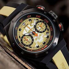 Men's Brushed Asymmetrical Wristwatches