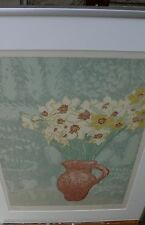 HUGH BULLEY ARTIST LIMITED EDITION SIGNED NUMBERED FLOWERS IN A VASE