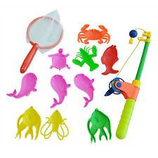 Magnetic Fishing Toy 10 Fish Kid Baby Bath Time Fun Game N3