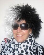 Black & White Spikey Female Fancy Dress Wig. ( Wicked Lady)Hen Night/ Party