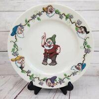 "Vintage Walt Disney Gallery Snow White the Seven Dwarfs Grumpy 8.5"" Salad Plate"