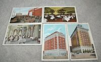5 1910-1920's Hotel Severin Indianapolis Indiana Postcards