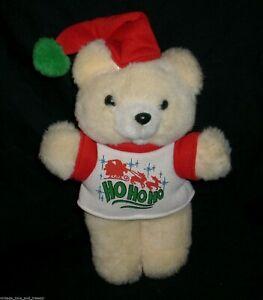 VINTAGE DAN DEE SANTA PAWS CHRISTMAS WHITE TEDDY BEAR STUFFED ANIMAL TOY PLUSH