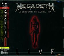 MEGADETH COUNTDOWN TO EXTINCTION LIVE JAPAN 2013 SHM CD - OUT OF PRINT - PERFECT
