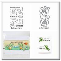 Crocodile Animals Metal Cutting Dies&Stamp Handcrafts Stencil Paper card Making