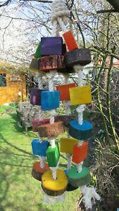 Papageienspielzeug  ! Wood Blocks - Neuheit ! Spielespaß !