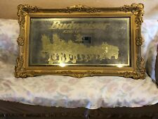 New listing Vintage Budweiser collectibles large bar mirror with Clydesdale Horses