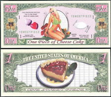 Sweet Piece Cheesecake Million Dollar Bill Collectible Funny Money Novelty Note