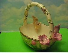 2002 Avon Springtime Candy Basket Ceramic dish
