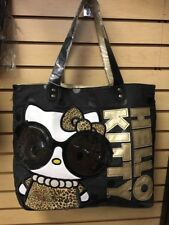 Loungefly Hello Kitty Big Glasses Leopard Purse Tote Bag