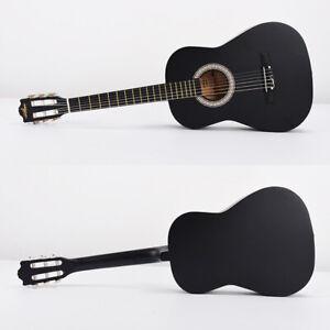Classical guitar 30 inch folk guitar set 6 string set  Black  G580