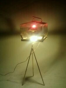 VINTAGE ROBOT ATOMIC UFO LIGHT SWAG LAMP SPUTNIK EYEBALL CHANDELIER TORINO BRASS