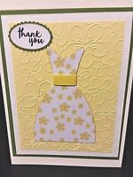 Lot of 5 Handmade Thank You Greeting Cards - Yellow Petals