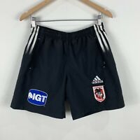 St George Illawara Shorts Mens Small Adidas Embroidered Elastic Waist Rugby NRL