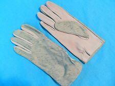 Vintage Green Cloth Evening Gloves 6 1/2