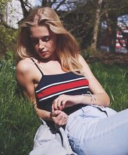 New! brandy melville stretchy crop Navy/Red/white striped faye tank top NWT S