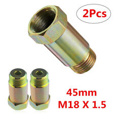 2x Straight 45mm O2 Oxygen Sensor Extension Spacer Extender Adapter M18X1.5 CEL