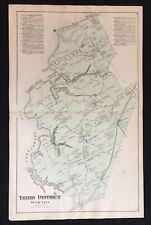 1877 EASTERN SHORE Kent County MARYLAND MAP Hanesville WORTON STATION Smithville