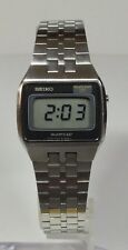 Rare Vintage 1977 Seiko F023-5019 Men's LCD Day/Date/Seconds Watch New Crystal