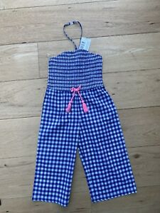 Stunning M&S Summer Jumpsuit/Playsuit Gingham age 5-6 Brand New!