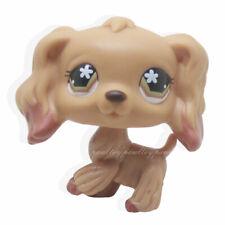 Rare Littlest Pet Shop Brown Cocker Spaniel Dog Flower Eyes Animal LPS #716