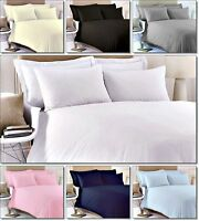Full Fitted Sheet Bed Sheets 100% Poly Cotton Heavy Single Double King All Sizes