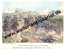 Farbdruck ca. 1905 Eroberung Insel Alsen 1864 Sonderburg Als Sønderborg
