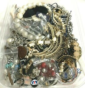 JEWELRY LOT Vintage to Now Wear Repair Repurpose Craft 3 plus Pounds