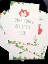 Baby Milestone Cards - Funny  ON SALE!!! Shower Christening Gift Newborn Unisex