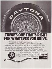 Original 1978 Daytona Tires Sport, Super Stags Vintage Print Ad