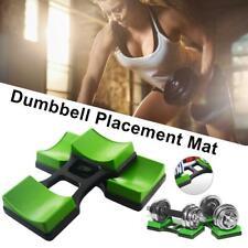 2x Dumbbell Bracket Mat Household Dumbbell Fitness Stand Holder Floor Protection