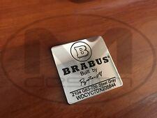 BRABUS Style Engine Badge with VIN Biturbo Type Emblem for Mercedes-Benz