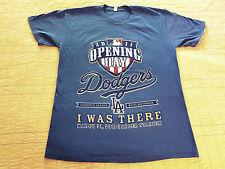 INV309-Los Angeles LA Dodgers Opening Day T Shirt M Medium EUC Blue MLB Baseball
