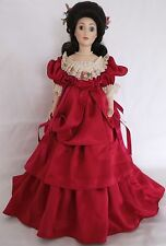 FRANKLIN Comme neuf HEIRLOOM Joanna Joanne Danube Bleu valse poupée de porcelaine musicale