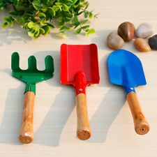 3pcs Children Kids Garden Tools Set Trowel Rake Shovel Home Gardening Beach Toy