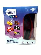 Disney Emoji Cars Kid Safe Volume Limiting Headphones Over the Ear Ages 6+ w